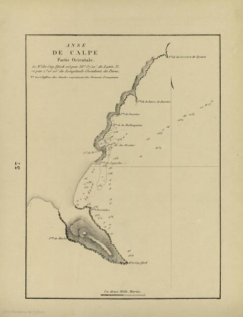 Anse de Calpe : [carte nautique] : Partie Orientale