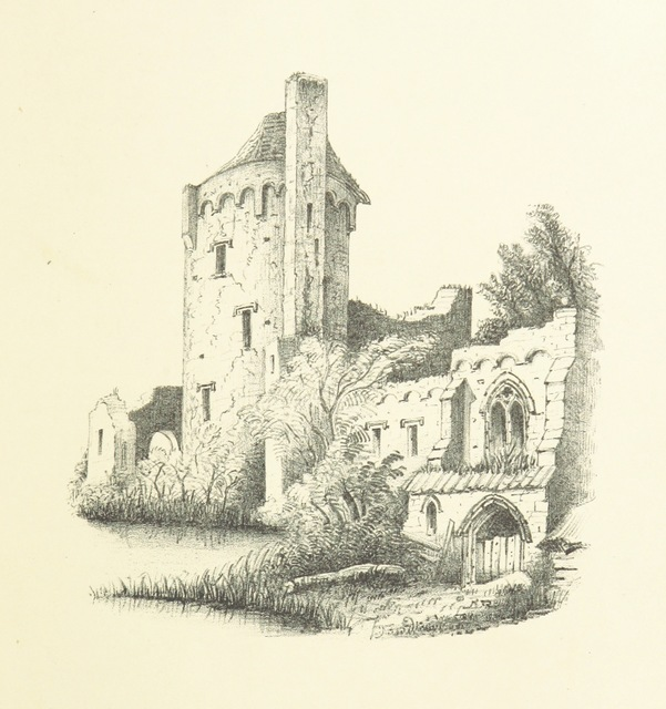 "Caister Castle from ""Kett's Rebellion in Norfolk; being a history of the great civil commotion that occurred at the time of the Reformation, in the reign of Edward VI. Founded on the ""Commoyson in Norfolk, 1549,"" by N. Sotherton; and the ""De Furoribus Norfolciensium"" of Nevylle; and corroborated by extracts from the Privy Council Register, documents preserved in the State Paper and other Record Offices, the Harleian and other MSS. ... With illustrations"""