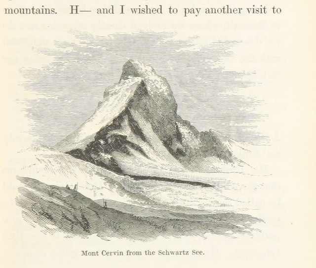 "Cervino from ""A Lady's Tour round Monte Rosa, with visits to the Italian valleys of Anzasca, Mastalone, ... and Cogne. In a series of excursions in the years 1850-56-58. [By Mrs. Henry Warwick Cole]"""
