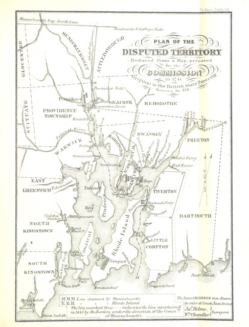 """map from """"History of the State of Rhode Island and Providence Plantations"""""""
