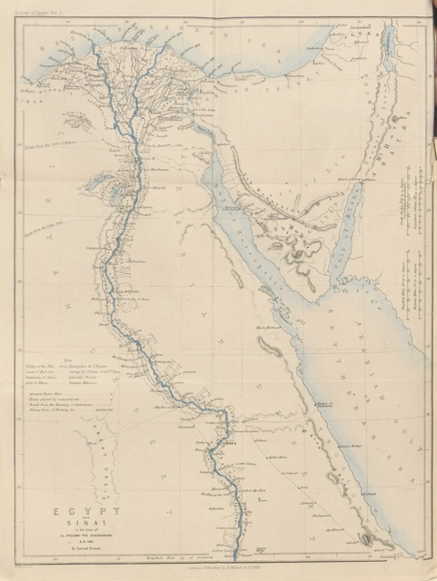 "map from ""[The History of Egypt from the earliest times till the conquest by the Arabs A.D. 640. A new edition.]"""