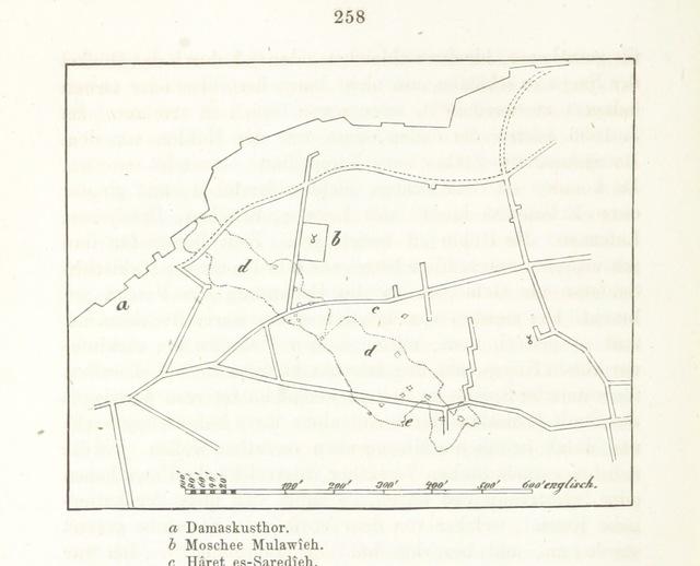 """map from """"Titus Tobler's dritte Wanderung nach Palästina im Jahre 1857. Ritt durch Philistän, Fussreisen im Gebirge Judäas und Nachlese in Jerusalem"""""""