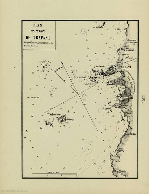 Plan du port de Trapani