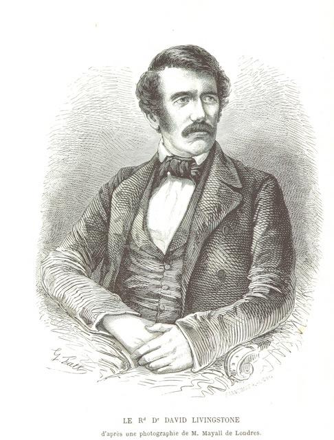 """Portrait from """"Exploration dans l'intérieuŕ de l'Afrique Australe. Ouvrage traduit de l'Anglais par Mme. H. Loreau"""""""