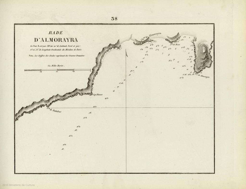 Rade D'Almorayra : [carte nautique]