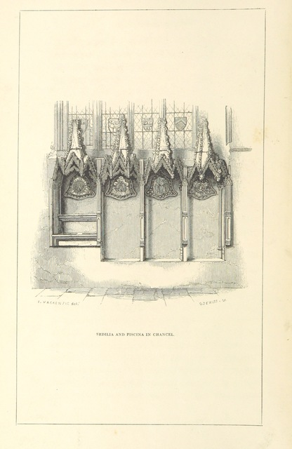 """Architecture from """"[Some account of the Abbey Church of St. Peter and St. Paul at Dorchester, Oxfordshire.]"""""""