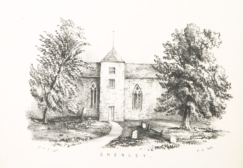 """Architecture from """"The Twelve Churches; or, tracings along the Watling Street. By the authoress of """"The Red Rose."""" Illustrated by H. H. T"""""""