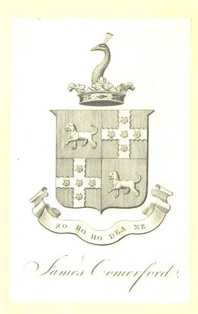 "coat of arms from ""The History of Thame and its hamlets, including the Abbey of Thame, Prebend, Free School, etc"""