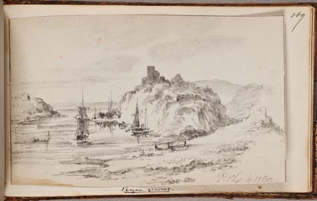 Gezicht op de Rijn / door P[ieter] v[an] L[oon] (1801-1873)
