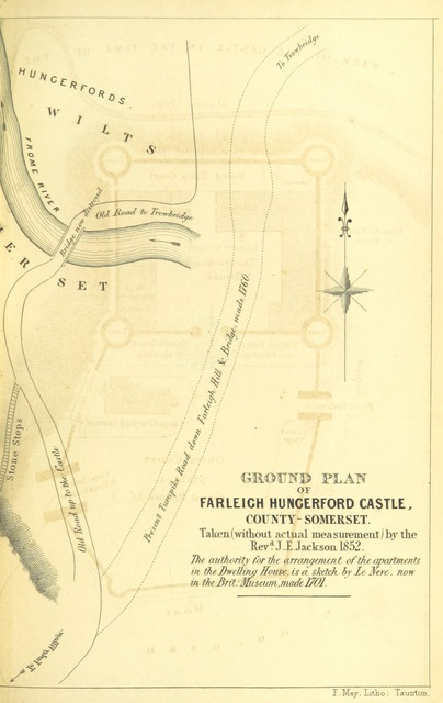"map from ""[A Guide to Farleigh-Hungerford, Co. Somerset.]"""