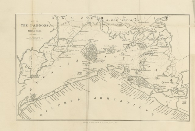 """map from """"History of the Venetian Republic: her Rise, her Greatness, and her Civilisation. (The first and second volumes ... based on """"The ... History of the Origin and Rise of the Republic of Venice."""")"""""""