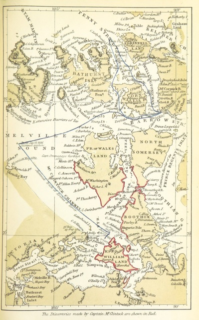 """map from """"[The North-West Passage, and the Plans for the Search for Sir John Franklin. A review. [With maps.]]"""""""