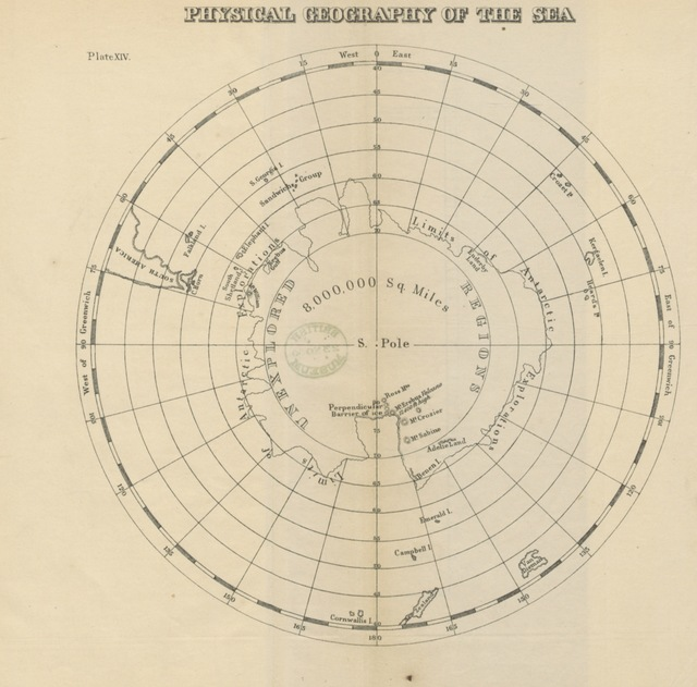 """Map from """"The Physical Geography of the Sea, and its Meteorology. Being a reconstruction and enlargement of the eighth edition of """"The Physical Geography of the Sea."""" Illustrated with numerous charts and diagrams"""""""