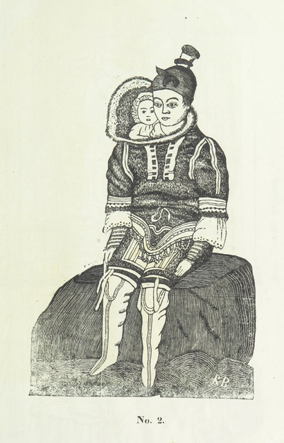 """Portrait from """"Kaladlit Assilialiait; or, Woodcuts drawn and engraved by Greenlanders. [With coloured duplicates of Nos. 1 and 2.]"""""""