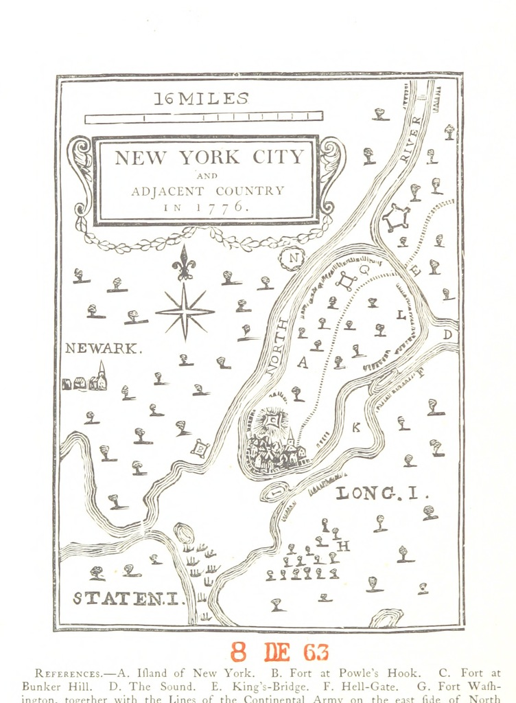 Map Of New York During American Revolution.Map From New York City During The American Revolution Being A