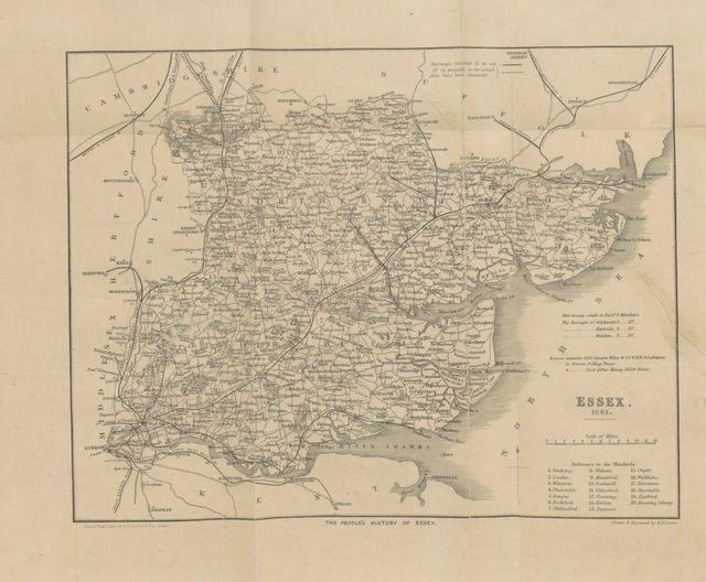 "map from ""The people's History of Essex, etc. [With a map.]"""