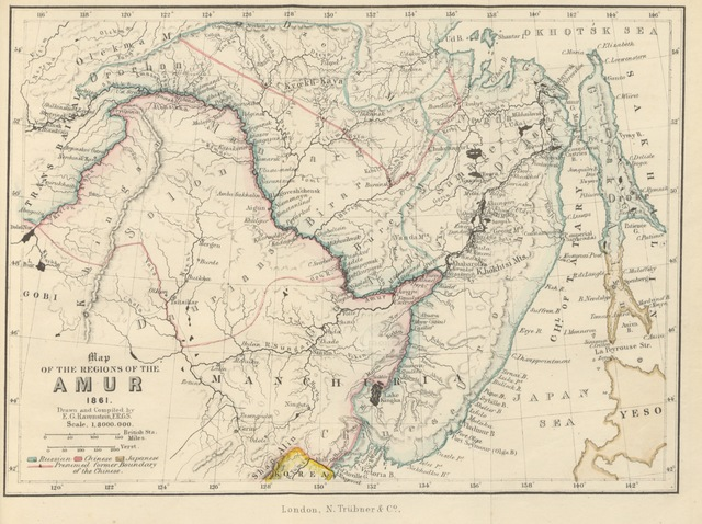 "map from ""The Russians on the Amur, its discovery, conquest, and colonisation, with a description of the country, its inhabitants, ...; and personal accounts of Russian Travellers. Illustrated by three maps, four plates, etc"""