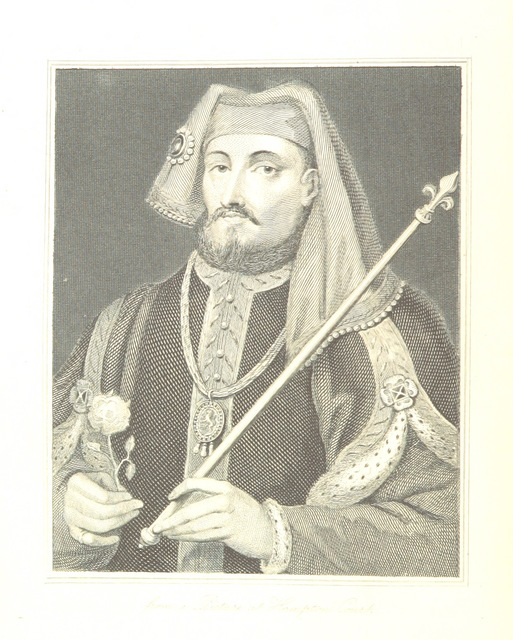 """Portrait from """"History of England and France under the House of Lancaster: with an introductory view of the Early Reformation. [By Lord Brougham.] New edition"""""""