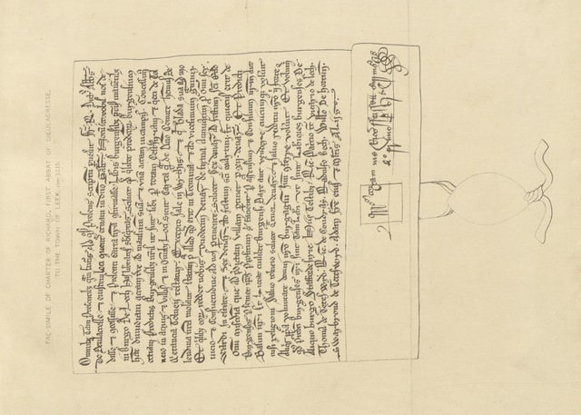 """manuscript from """"A History of the ancient parish of Leek, in Staffordshire. By J. Sleigh. With a chapter on the Geology of the neighbourhood, by T. Wardle"""""""