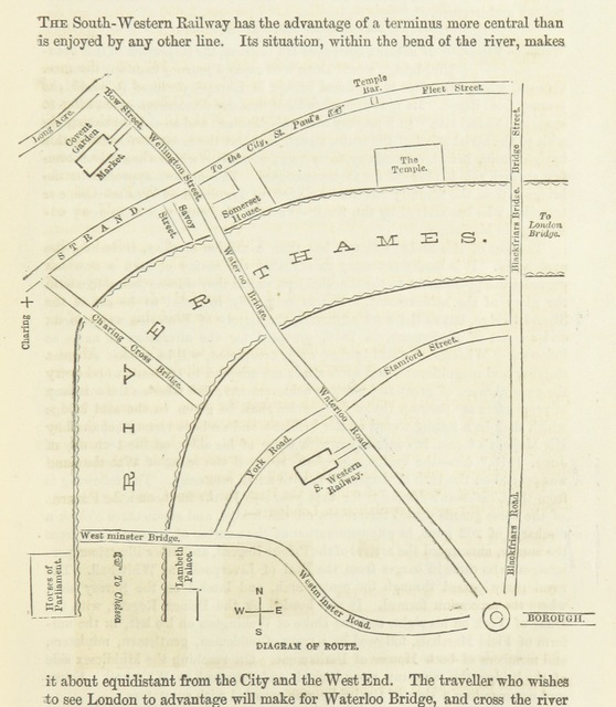 """map from """"Cassell's Illustrated Guide to London; with full information for visitors to the metropolis during the period of the International Exhibition"""""""