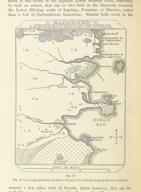 "map from ""[The Student's Manual of Geology.]"""
