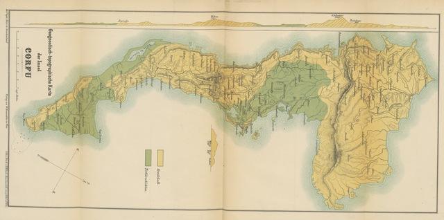 """map from """"Wissenschaftliche Ergebnisse einer Reise in Griechenland und in den Ionischen Inseln, etc"""""""