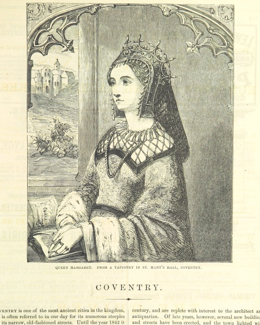 "Queen Margaret from ""The Traveller's Album and Hotel Guide: containing views of places and buildings of historical and general interest, with descriptive letterpress; an account of the principal railways out of London, etc"""