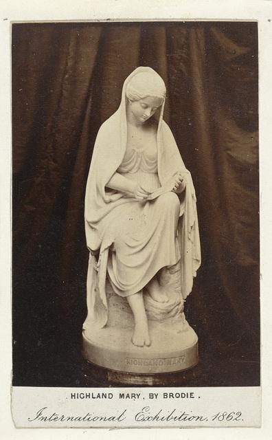 Sculptuur van Highland Mary, door Brodie, tentoongesteld op de International Exhibition, Londen 1862