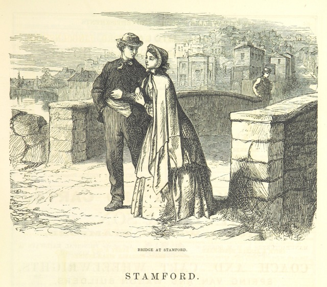"Stamford from ""The Traveller's Album and Hotel Guide: containing views of places and buildings of historical and general interest, with descriptive letterpress; an account of the principal railways out of London, etc"""