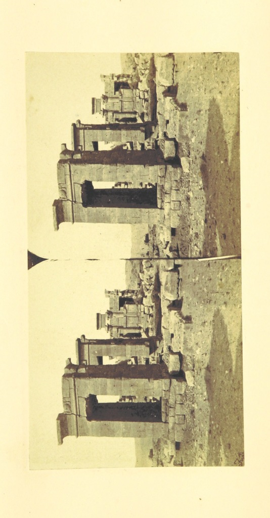 """stereopair from """"Egypt, Nubia, and Ethiopia. Illustrated by one hundred stereoscopic photographs, taken by Francis Frith for Messrs. Negretti and Zambra. With descriptions and numerous wood engravings, by Joseph Bonomi ... and notes by Samuel Sharpe"""""""
