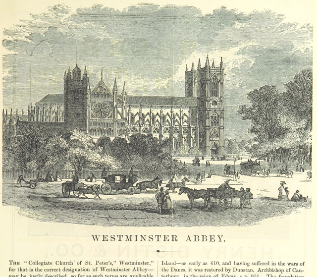 "Westminster Abbey from ""The Traveller's Album and Hotel Guide: containing views of places and buildings of historical and general interest, with descriptive letterpress; an account of the principal railways out of London, etc"""