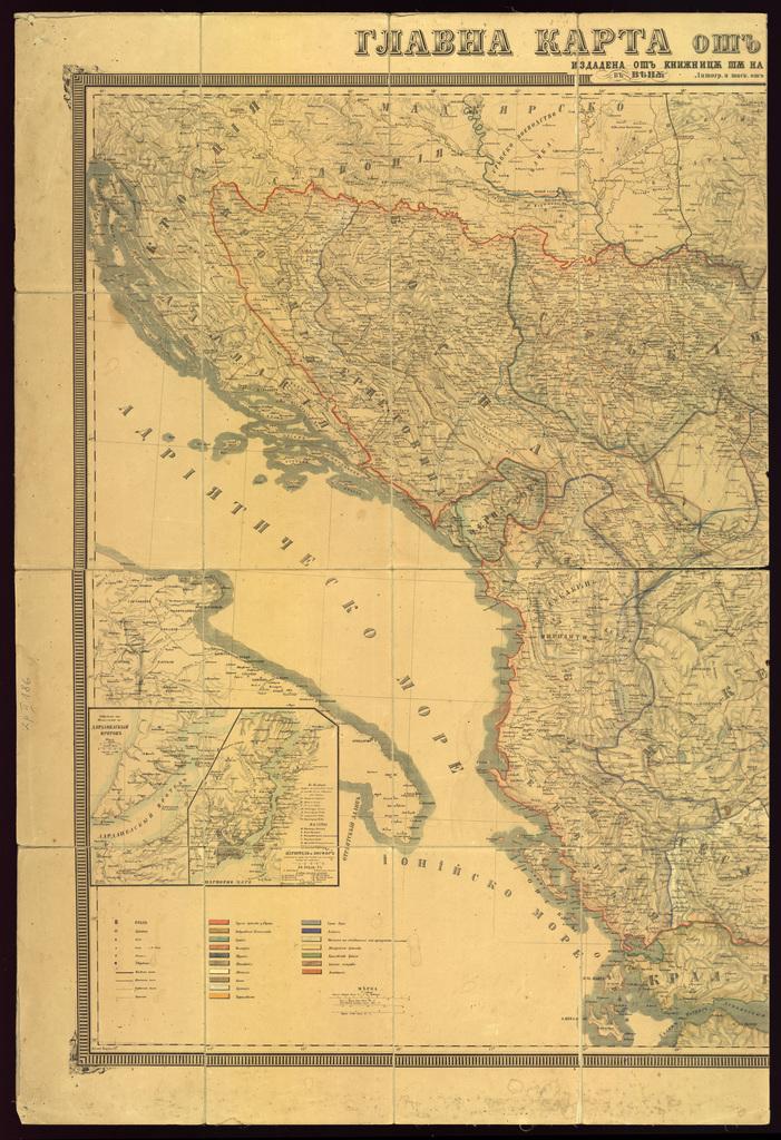 Главна карта от Европско Турско