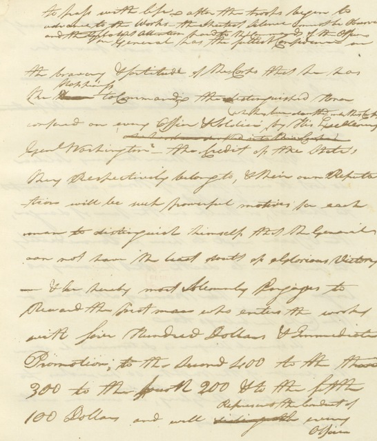 """manuscript from """"[The Assault on Stony Point, by General Anthony Wayne, July 16, 1779. Prepared for the New York Historical Society, and read at its regular monthly meeting, April 1, 1862, with a map, fac-similes, and illustrative notes.]"""""""