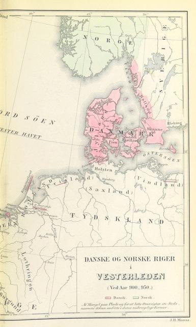 Map Of England 950.Map From Den Danske Erobring Af England Og Normandiet Picryl