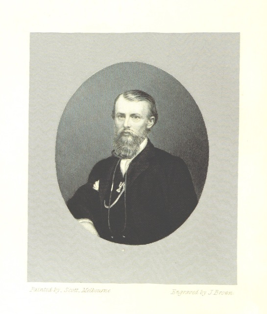 """portrait from """"A successful exploration through the interior of Australia, from Melbourne to the Gulf of Carpentaria. From the journals and letters of W. J. W. Edited by ... W. Wills"""""""
