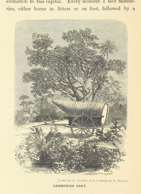 "cart from ""Travels in the central parts of Indo-China, Cambodia, and Laos, during the years 1858, 1859, and 1860. (Memoir of H. Mouhot [by J. J. Belinfante. Edited by C. Mouhot].) With illustrations"""