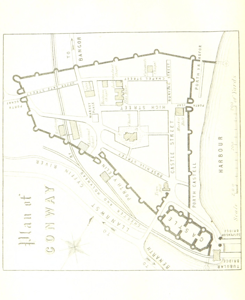 """map from """"Williams's Complete Guide to Llandudno. The tenth thousand ... Illustrated"""""""