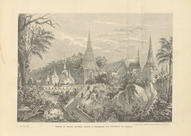 "pagoda from ""Travels in the central parts of Indo-China, Cambodia, and Laos, during the years 1858, 1859, and 1860. (Memoir of H. Mouhot [by J. J. Belinfante. Edited by C. Mouhot].) With illustrations"""