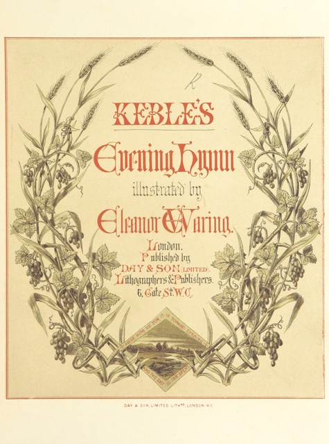 """cover from """"Keble's Evening Hymn [from the """"Christian Year""""], illustrated by E. Waring"""""""