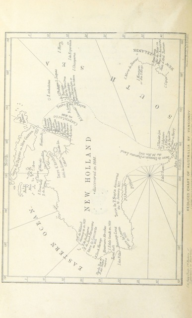 """map from """"A History of the Discovery and Exploration of Australia; or, an account of the progress of geographical discovery in that continent, from the earliest period to the present day"""""""