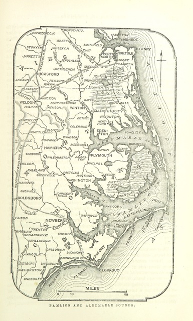 "map from ""The History of the Civil War in America; comprising a full ... account of the origin and progress of the Rebellion, of the various naval and military engagements ... Illustrated with maps, diagrams ... engravings of battle scenes ... and portraits, etc"""