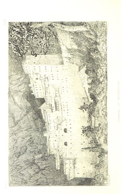 """monastery from """"An Excursion in the Peloponnesus in the year 1858. By the late Right Hon. Sir T. W. ... Edited by his niece, W. M. Wyse. With numerous illustrations"""""""
