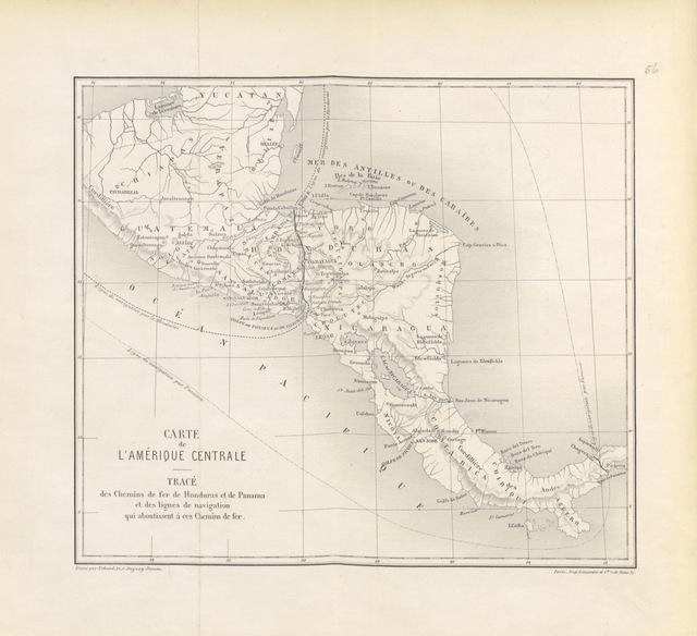"""Central America from """"Une voie nouvelle à tavers l'Amérique Centrale. Étude geographique, ethnographique et statistique sur le Honduras"""""""