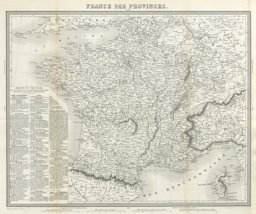"""map from """"Martin's History of France. The Decline of the French Monarchy ... Translated from the fourth Paris edition. By M. L. Booth"""""""