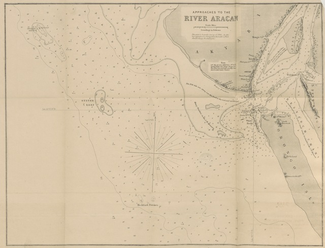"map from ""Sailing Directions for the principal Ports in the Bay of Bengal, with remarks upon the winds and currents; and special instructions for making passages up and down the Bay. [With maps.]"""