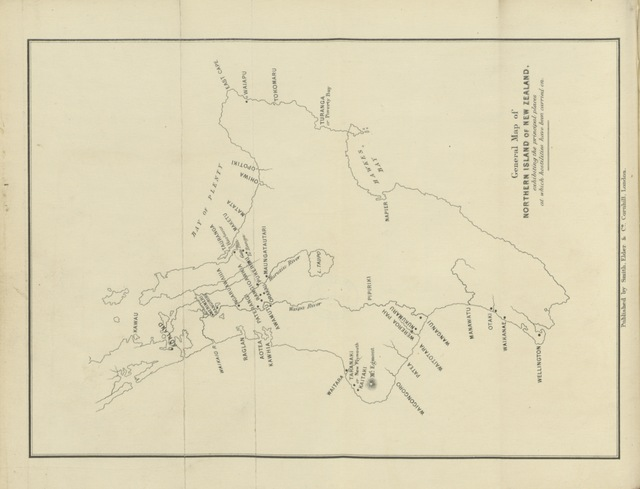 """map from """"The War in New Zealand ... With ... maps, etc"""""""