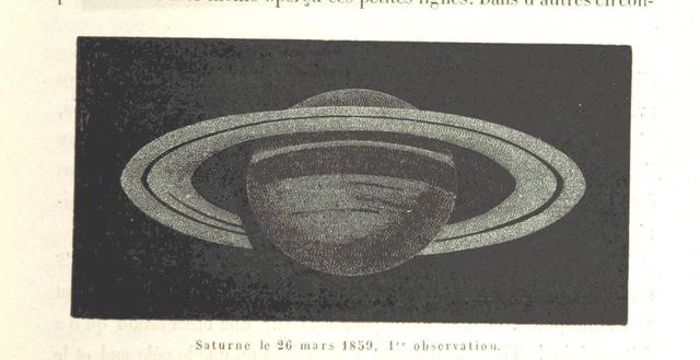 """planet from """"L'Espace céleste et la nature tropicale, description physique de l'univers ... préface de M. Babinet, dessins de Yan' Dargent"""""""