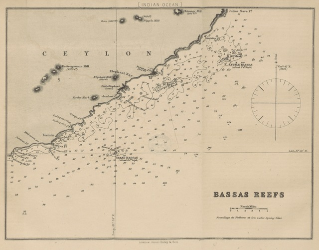 "Reefs from ""Sailing Directions for the principal Ports in the Bay of Bengal, with remarks upon the winds and currents; and special instructions for making passages up and down the Bay. [With maps.]"""