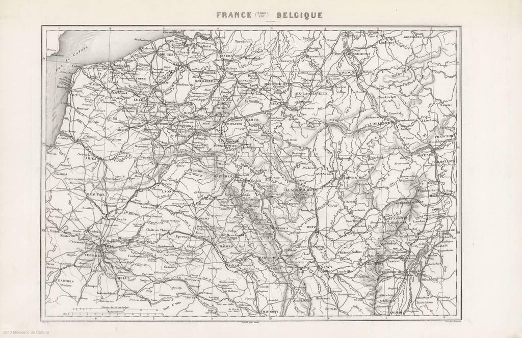 carte nord est france France (Nord Est) Belgique : [carte génerale]   PICRYL Public