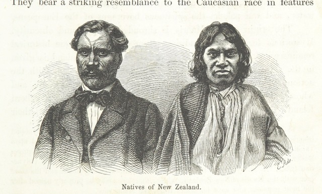 """Maori from """"New Zealand, its physical geography, geology and natural history, with special reference to the results of Government Expeditions in the provinces of Auckland and Nelson ... Translated from the German original ... by E. Sauter ... With additions ... by the author. Illustrated, etc"""""""